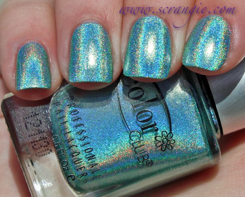 Scrangie Color Club Angel Kiss Halo Hues Holographic Nail Polish Collection Spring 2017 Swatches And Review