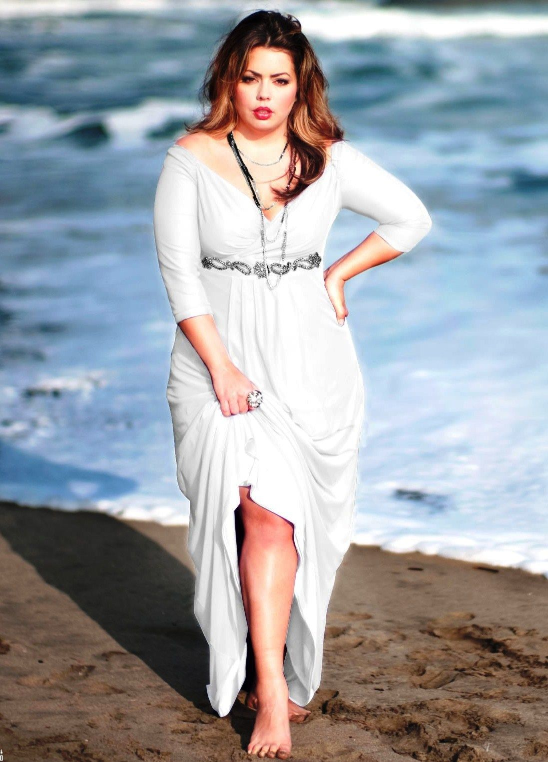 Long white plus size dress. | Plus size dresses | Pinterest ...