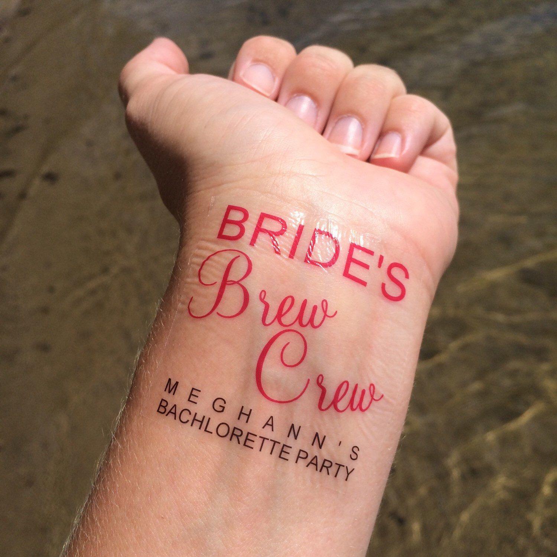 Brew Crew, Beer Theme, Temporary Tattoo, Fake Tattoo, Bachelorette ...