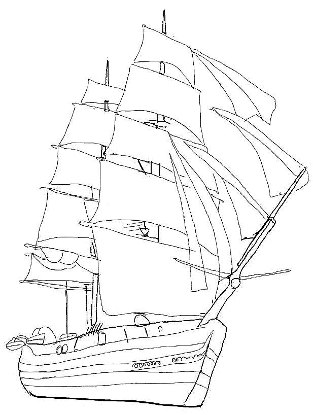 18-schoene-ausmalbilder-segelschiff-dekoking-com   Schöne ...