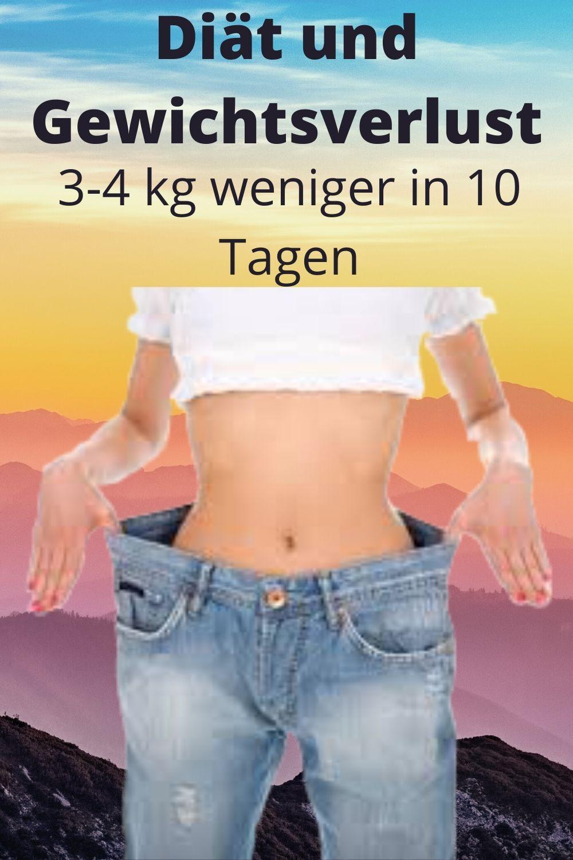 Diät verlieren 4 Kilo in 10 Tagen