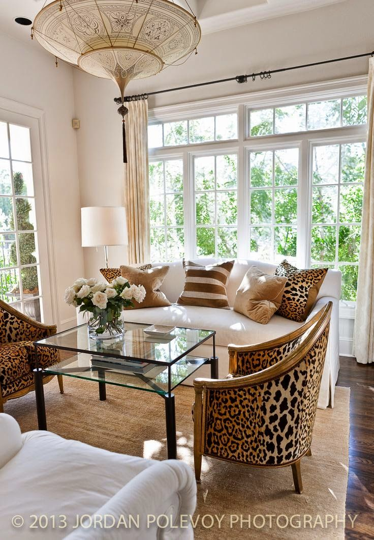 Not A Big Fan Of Leopard But Like The Design And Big Windows Living Room  Decor