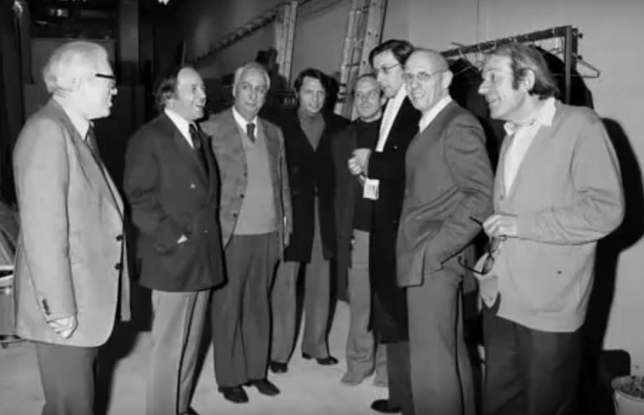 Pierre Boulez, Roland Barthes, Jean-Claude Risset, Michel