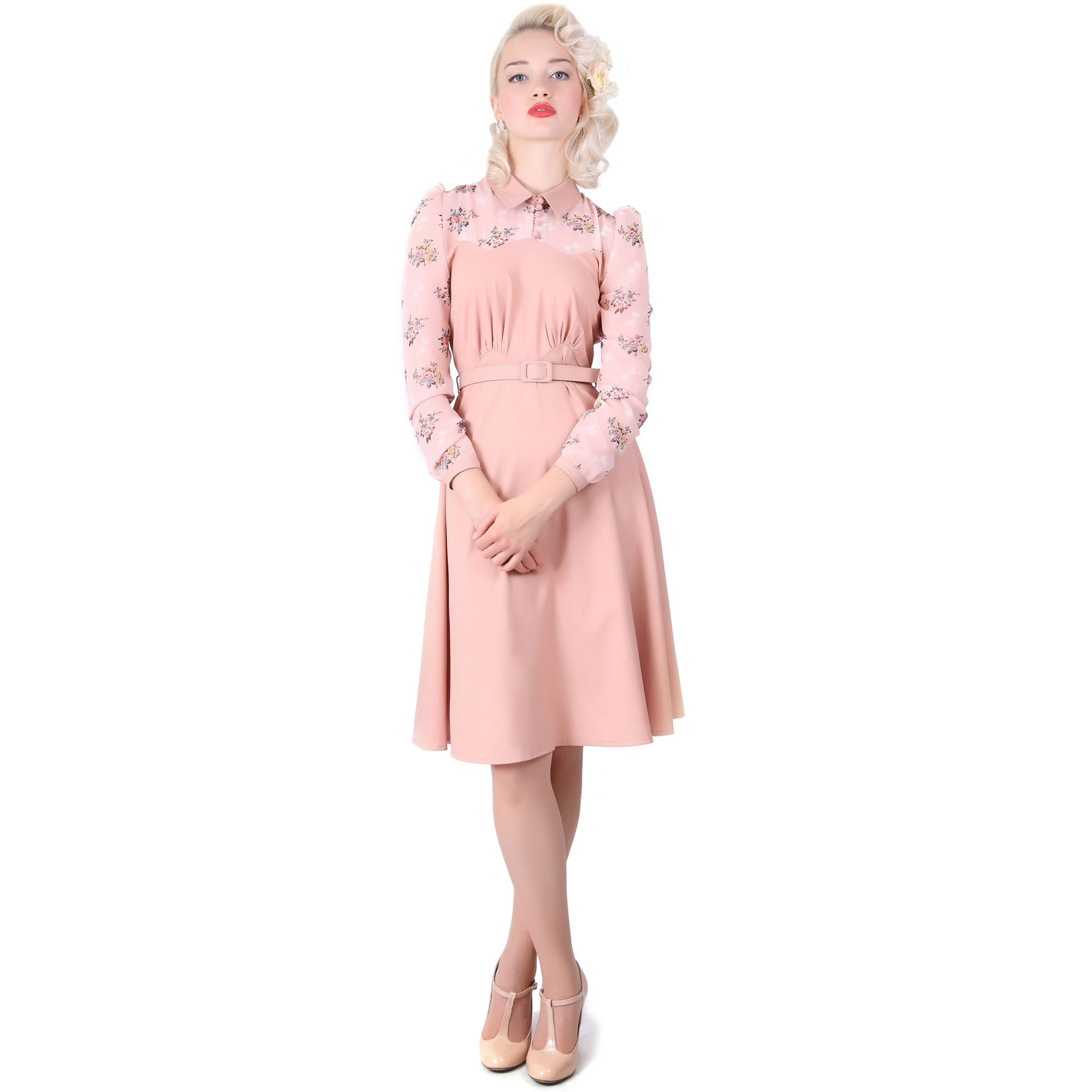 Collectif New Stephanie Vintage 40s 50s Retro Peach Party Prom ...