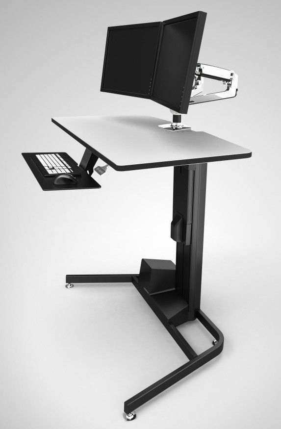 top 10 best standing sit stand desks 2018 editors pick home rh pinterest com ergotron workfit-d sit-stand desk (light-grey surface) workfit-d sit-stand desk