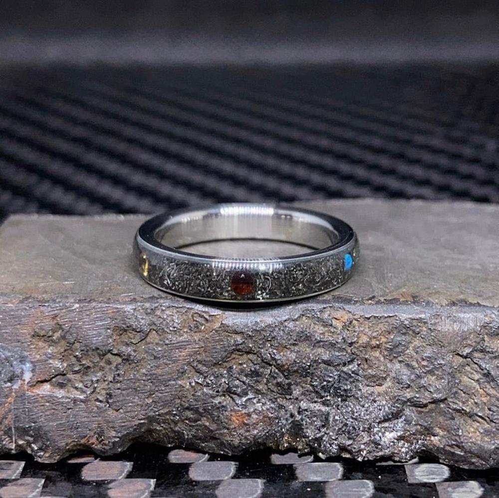 NATURAL Infinity Stone Meteorite Ring Avengers Infinity