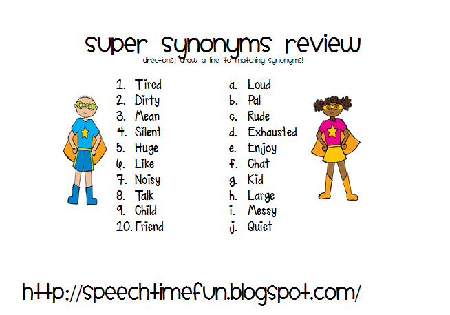 Superhero Synonyms