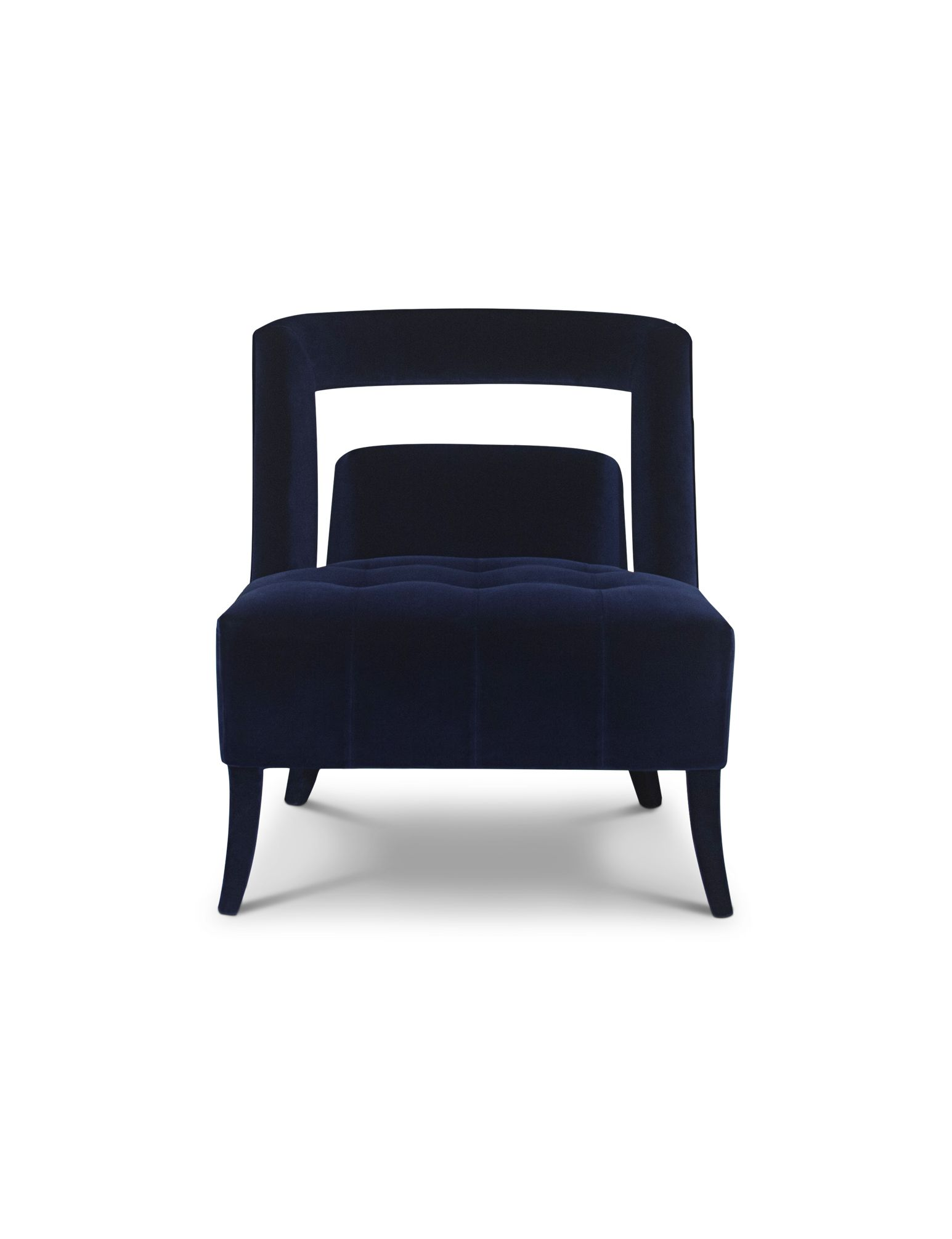 Naj is a classic modern armchair with straight lines fully upholstered in cotton velvet