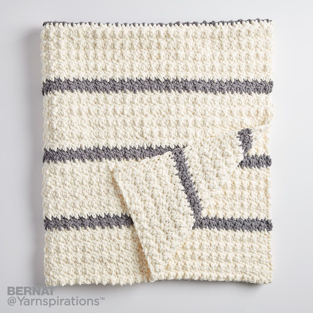 Pin Stripe Crochet Blanket | Crochet | Pinterest