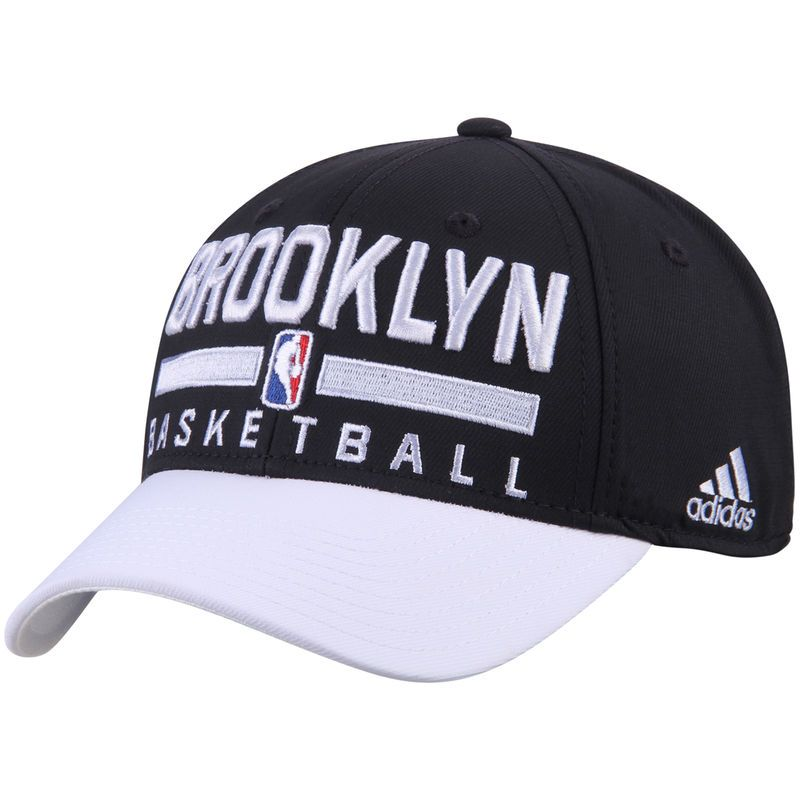 Brooklyn Nets adidas 2-Tone Practice Structured Snapback Hat - Black White be875567f7f