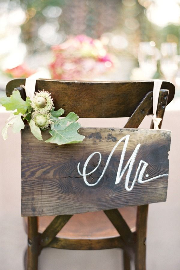 wooden chair sign