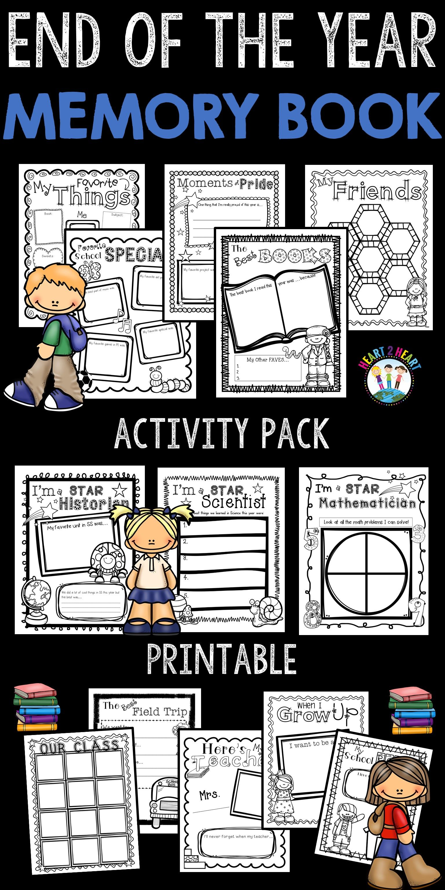 End Of Year Activities Create A Memory Book Keepsake For Grades 1 4