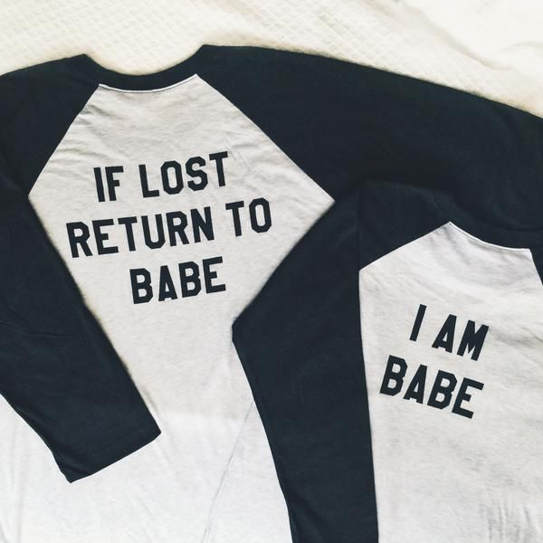 26db157a His & Hers 'If Lost Return To Babe' Couples Baseball Tees   SHOP Hubs & Hers