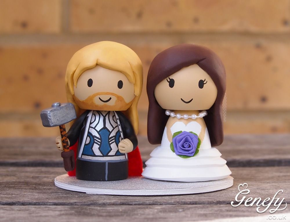 Thor Bride Cake Topper By Genefy Playground Https Www Facebook
