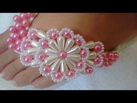 Chinelo Rosa Pink com Pérolas YouTube