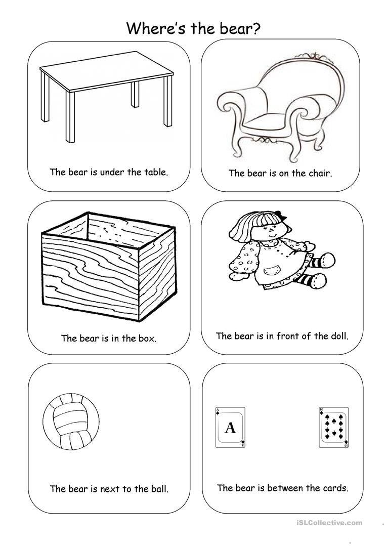 Where S The Bear Kindergarten Worksheets Prepositions Kindergarten Worksheets Printable [ 1079 x 763 Pixel ]