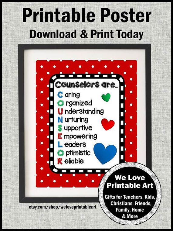 Counselors Are Printable Quote Poster School Counselor Etsy School Counselor Gifts School Counselor Appreciation School Counselor Appreciation Gifts