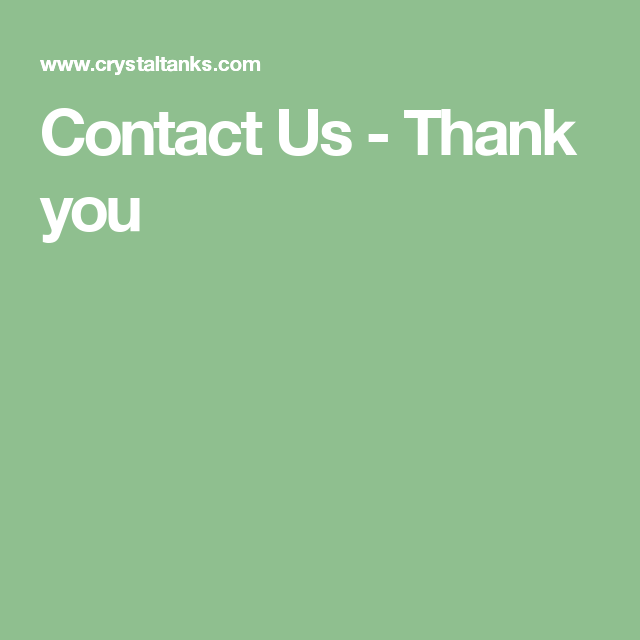 Contact Us - Thank you