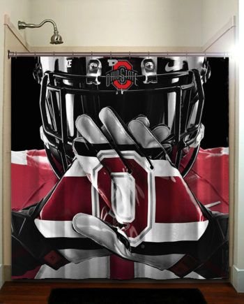 Ohio State Buckeyes College Football Shower Curtain Bathroom Home Decor #ohiostatebuckeyes