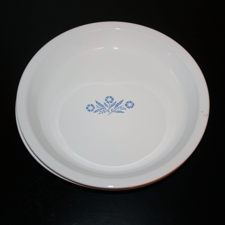 Vintage Corning Ware 9 Inch Pie Plates Made USA Cornflower Design ...
