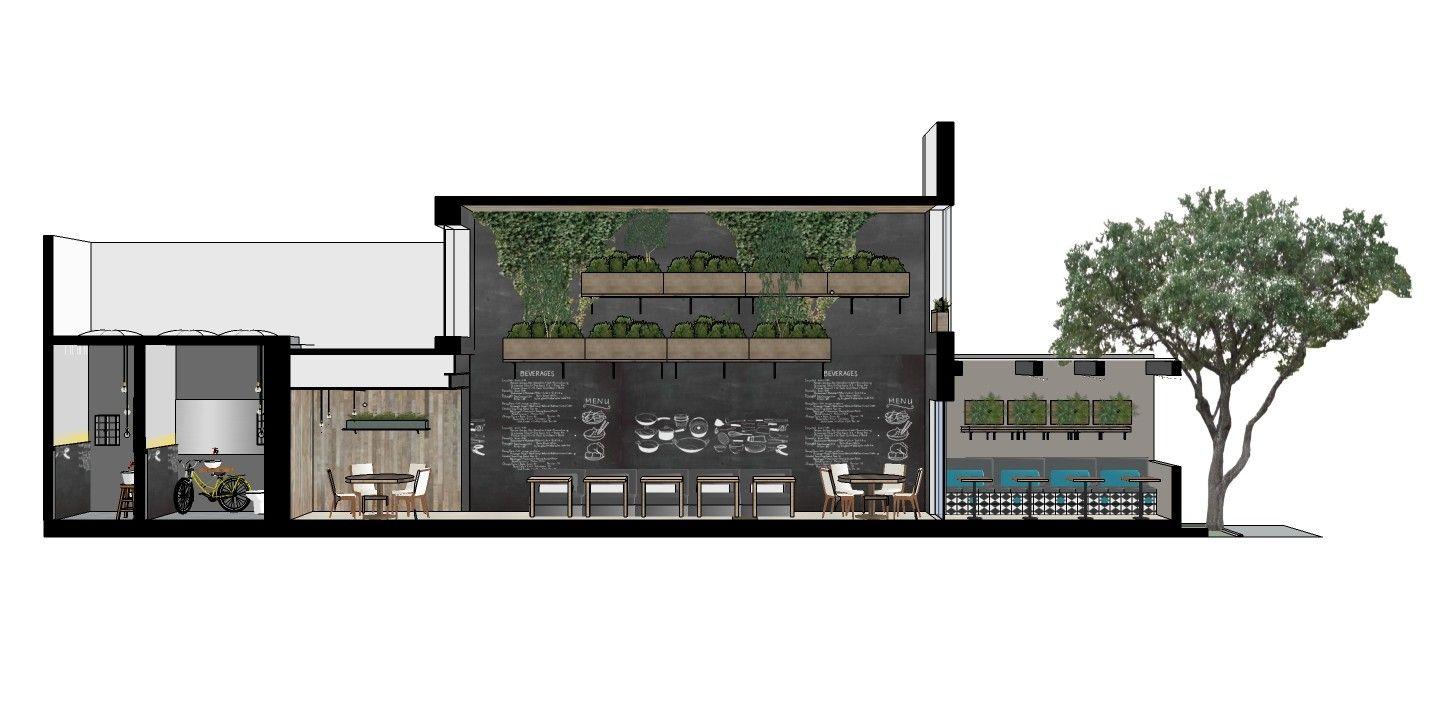 Galeria de restaurante le manjue organique fl via for Architecture organique