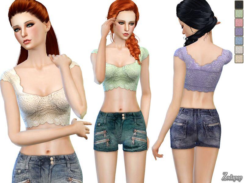 zodapop's (S4) Lace Crop Top