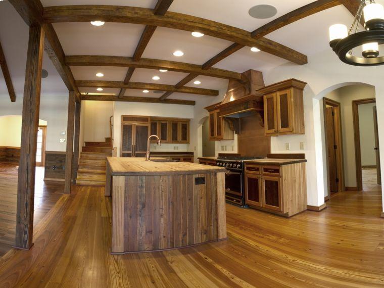 muebles cocina madera obra | Interiores para cocina | Pinterest