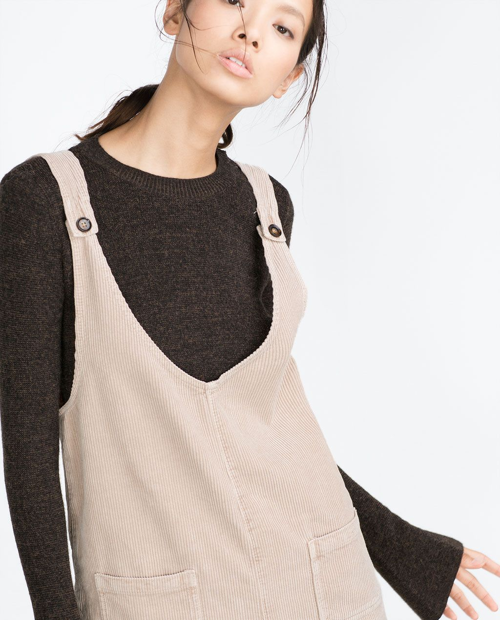 clearance discount for sale shopping Image 2 of CORDUROY PINAFORE DRESS from Zara | DUNGAREE ...