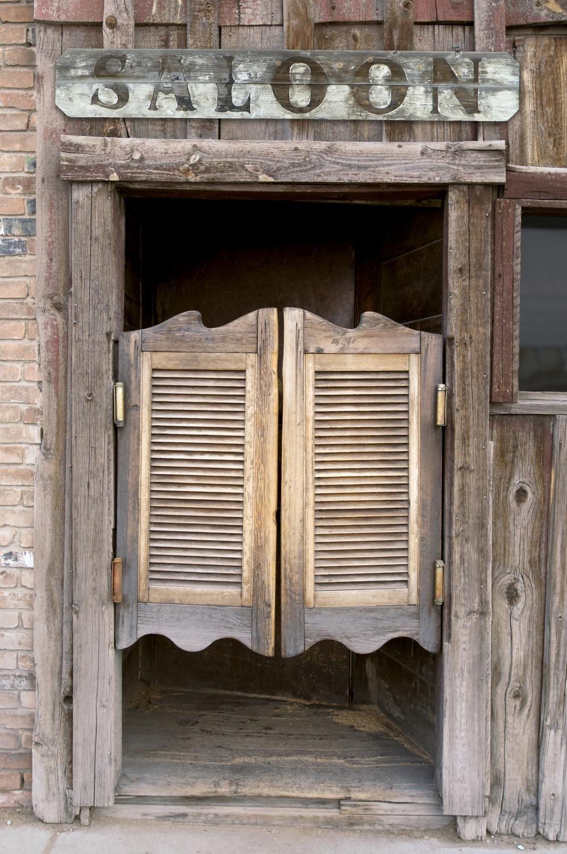 Handcrafted custom swinging saloon doors - Old Western Swinging Saloon Doors With Sign