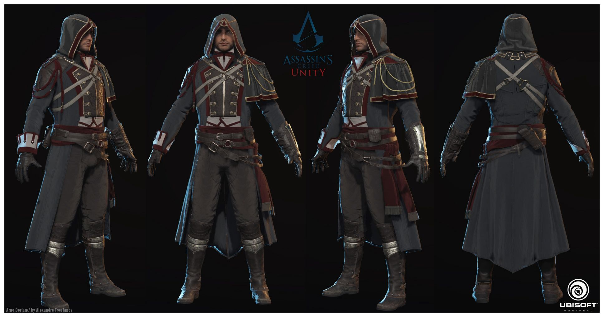 Character Design Unity : My contribution while on assassins creed unity character
