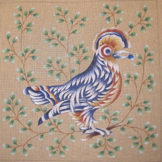 003-A119 Exotic bird with crest