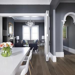 Grey Dining Room Eames Dowel Leg Chairs White Chandeliers White Mesmerizing Dark Grey Dining Room Inspiration