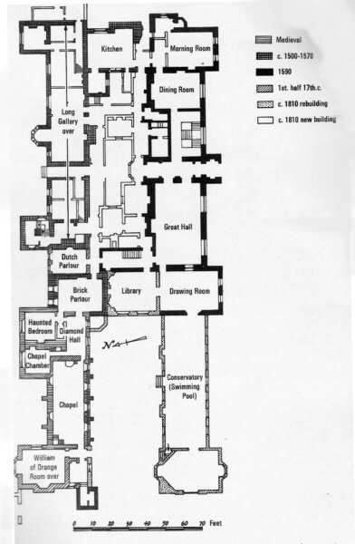 Littlecote house wiltshire 1960s ground floor plan for 1960s floor plans