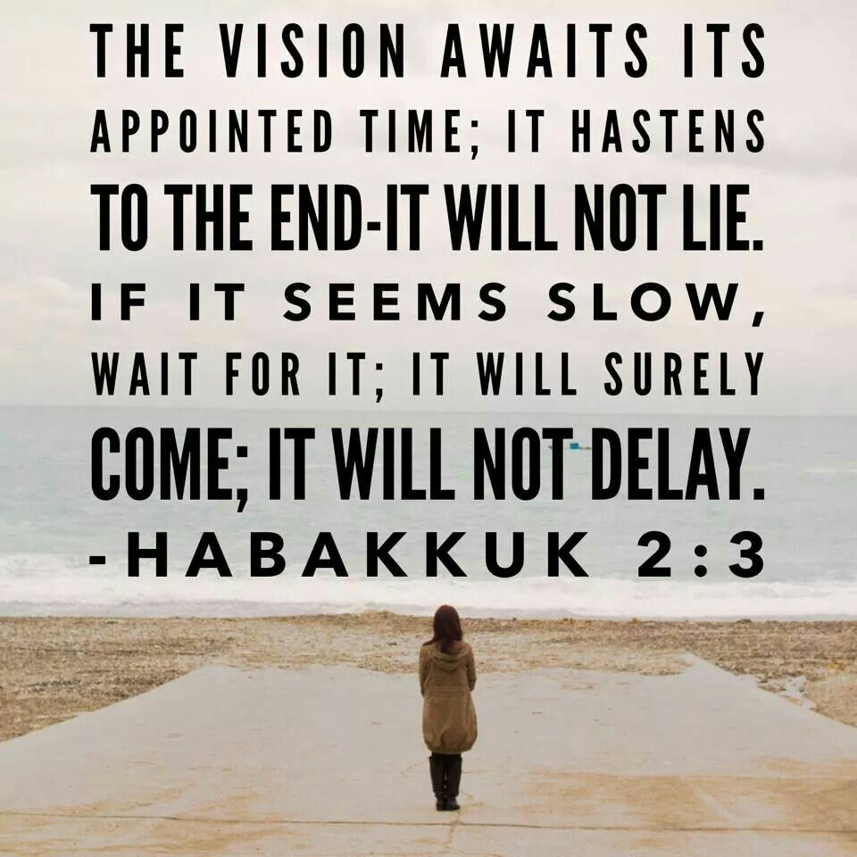 Image result for vision may tarry