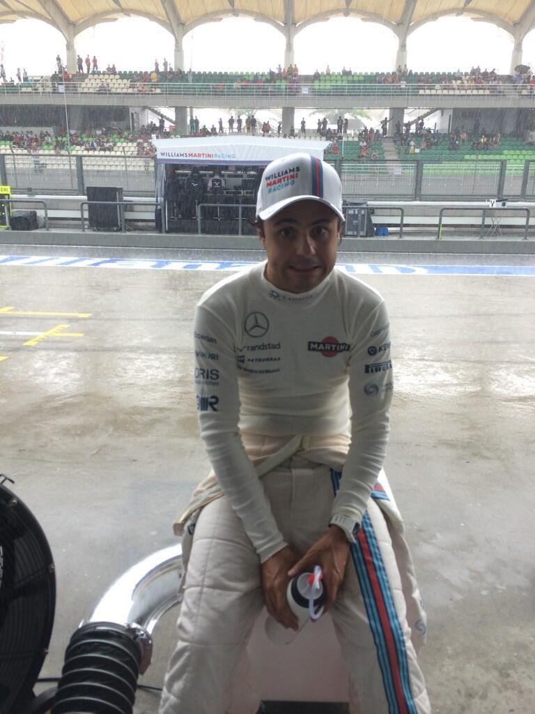 Felipe Massa waiting for qualifying - 2014 Malaysian GP