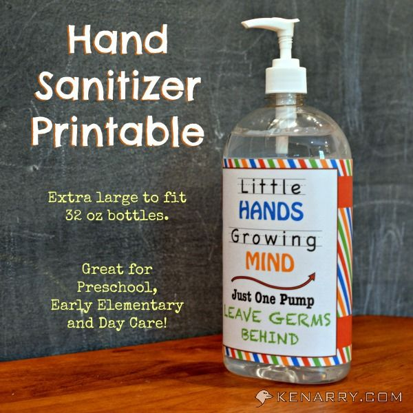 Hand Sanitizer Teacher Appreciation Gift Tag Printable Teacher