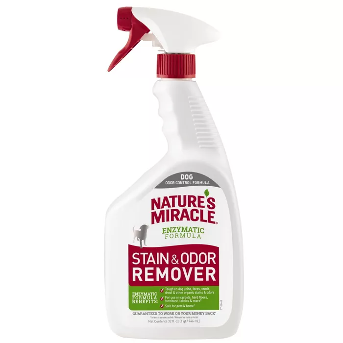 Nature S Miracle Spray Pet Stain And Odor Remover Enzymatic Formula 32 Oz Odor Remover Remove Pet Stains Nature S Miracle
