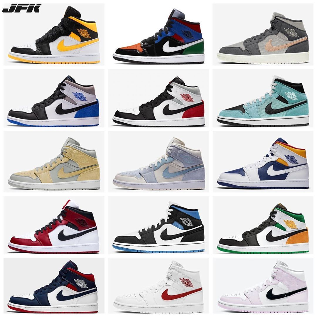 😳🤯 Upcoming Air Jordan 1 Mid colorways