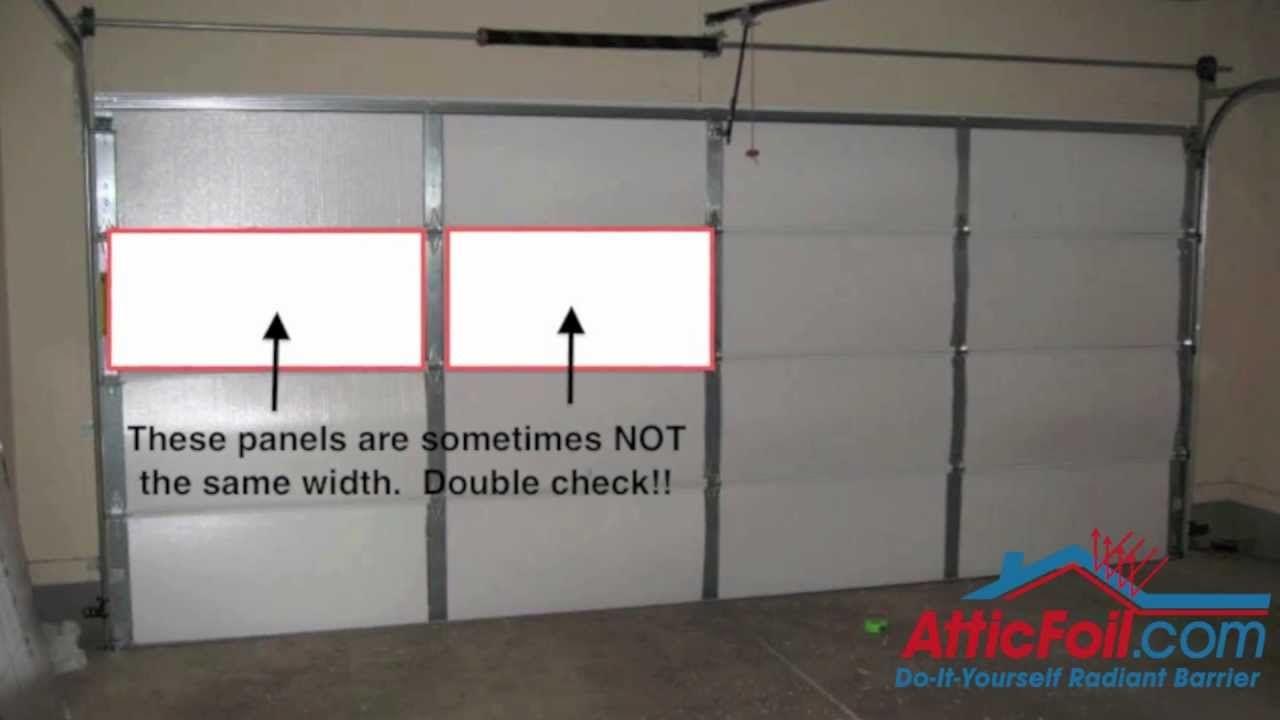 Garage door insulation diy radiant barrier door