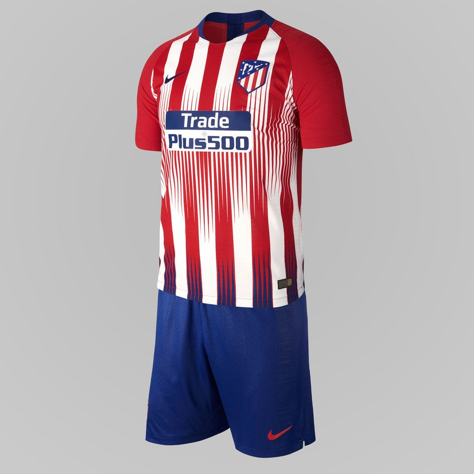 Atletico Madrid 18 19 Home Kit Released Footy Headlines Atletico Madrid Madrid Striped Jersey