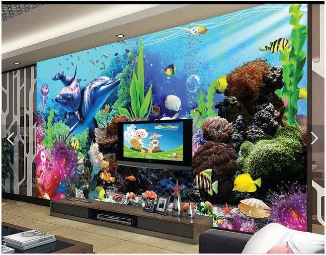 3d Wallpaper Custom 3d Wall Murals Wallpaper Sea Aquarium 3d