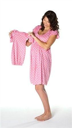 a8e5279a32dda Matching nursing night gown & baby romper!!!! Great baby shower gift!  www.milkandbaby.com