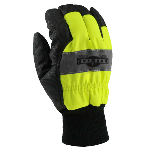 Radians Rwg800l Radwear Silver Series Hi Visibility Thermal Lined Gloves In 2020 Thermal Radians Knitted Gloves