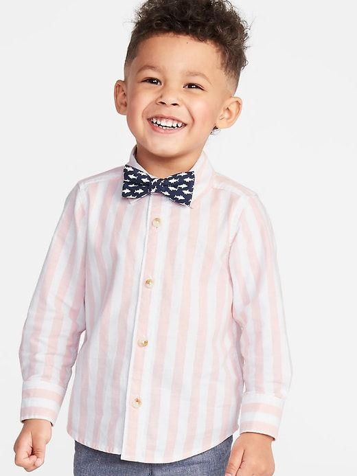 838a6ca25 Old Navy Long-Sleeve Shirt & Printed Bow-Tie Set for Toddler Boys in ...