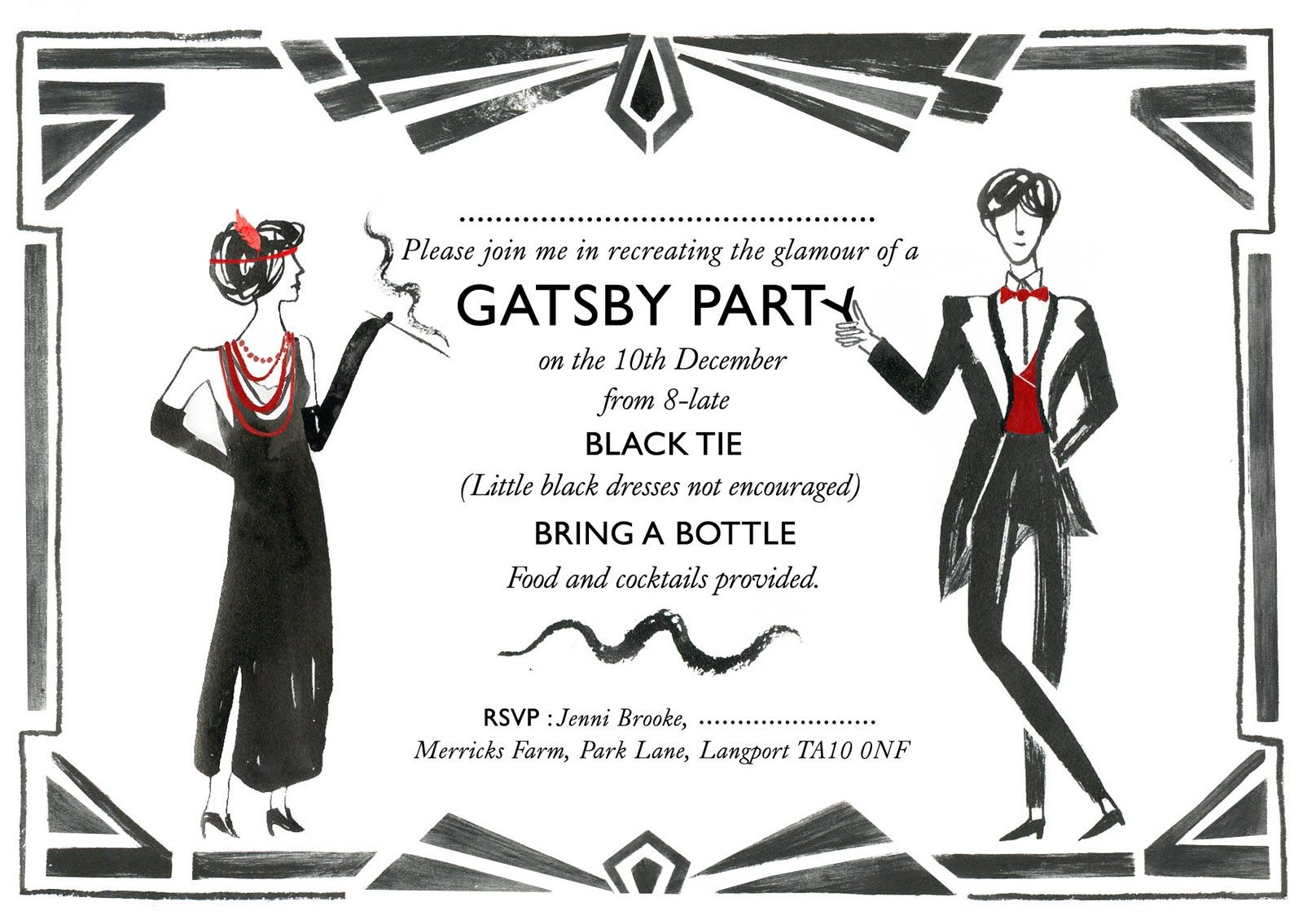 not crazy about the wording but nice graphics. | Gatsby/ 1920\'s ...