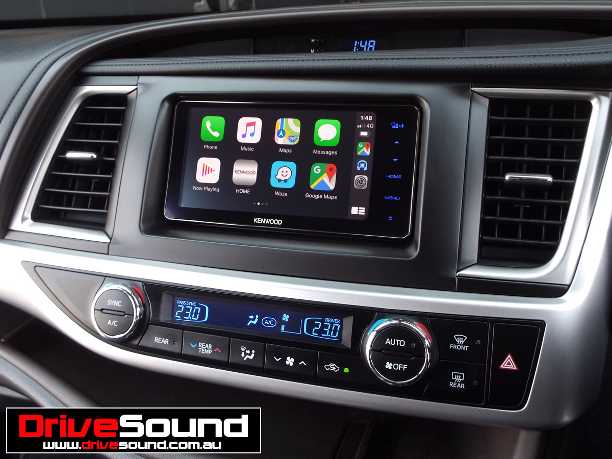 Toyota Kluger with Apple CarPlay installed by DriveSound