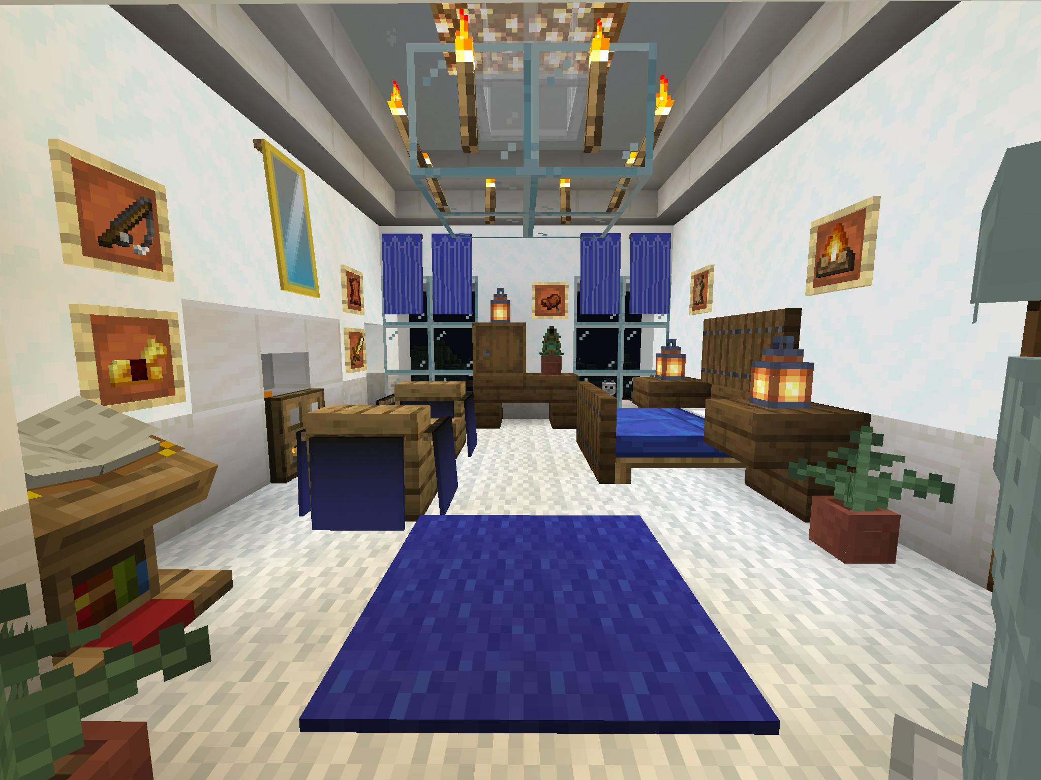 1.4.2 Master Bedroom Interior design | Minecraft bedroom ... |Minecraft Mansion Inside Bedroom
