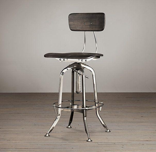 Vintage Toledo Bar Chair Polished Chrome - Vintage Toledo Bar Chair Polished Chrome Dream Home: Office