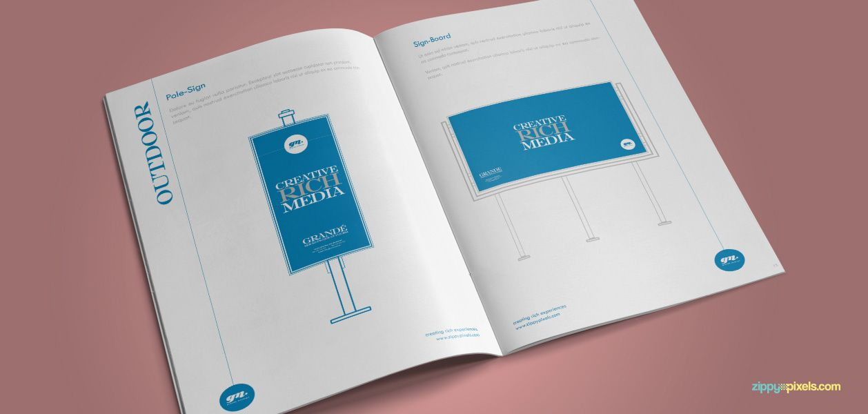 The Minimalistic – Brand Guidelines Template - Brand Advertising ...