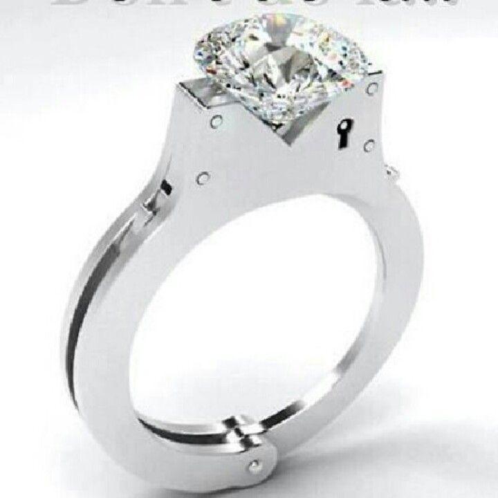 Handcuff Wedding Ring Love This